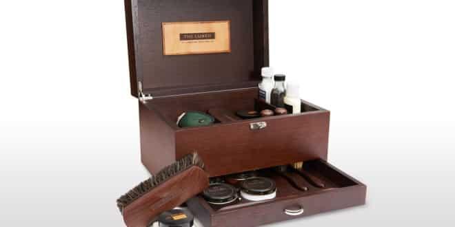 Shoeshine box, progetto di lusso per scarpe impeccabili